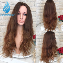 SHD Body Wave Lace Front Wigs Pre Plucked Natural Hairline Brazilian Remy Human Hair Glueless Brown 13*6 Frontal