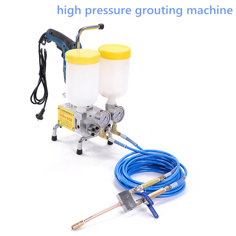 Double Liquid Type High Pressure Grouting Machine JBY-618 Double Liquid Polyurethane Foam/epoxy Injection Grouting Machine 220V