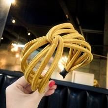Summer Korean Fashion Wide Hairband Scrunchy Women Girls Hair Head Hoop Bands Accessories For Women Headdress Hairbands Headwear(China)