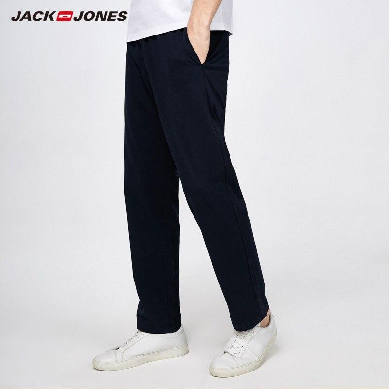 JackJones de los hombres de primavera y verano de 100% de algodón puro Color de handknit, los hombres de Pantalones Slim de Moda Ropa de 2019   218114513
