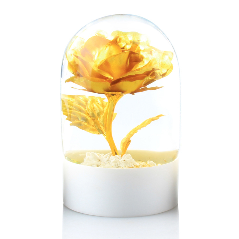 #a Gold Rose crystal ball ornaments rose valentine's day wedding gifts table decoration