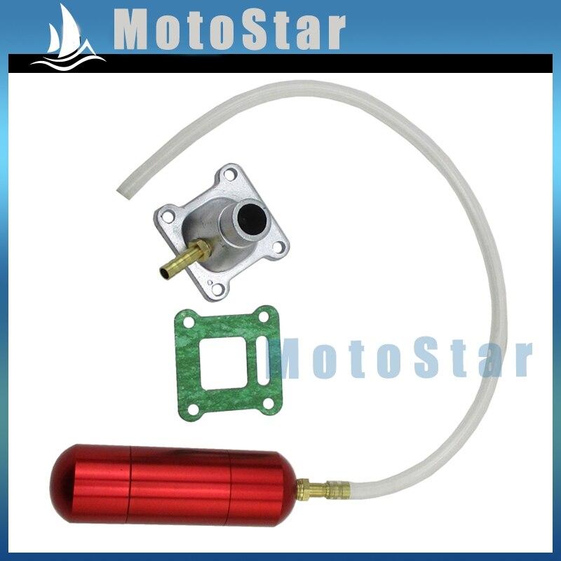 Bottiglia di alluminio Red Power Boost + Tubo di Aspirazione Guarnizione Per 2 tempi 43cc 47cc 49cc Mini Moto Bambini ATV Quad Dirt Pocket Bike