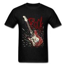 Crazy 2018 Rock Men Black T-shirt Broken Guitar Print Guys Short Sleeve Tee Shirts Music Band Team Top Custom Company цена и фото