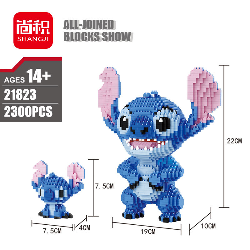 Balody Diamond Blocks 2 In 1 Cute Cartoon Plastic Building Toy Stitch Auction Figures Brinquedos For Children Toys Lovely Gifts
