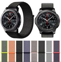 silicone strap sport band for samsung gear s3 s2 classic huawei watch 2 xiaomi huami amazfit pace lite pebble time steel 20 22mm 22mm Nylon wrist band for Samsung galaxy watch active 42 46mm Gear s2 S3 xiaomi amazfit 2s 1 pace bip pebble time steel strap