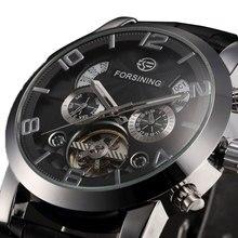 Venta caliente Forsining Reloj Mecánico de Los Hombres Relojes Masculinos Reloj de Regalo de Alta Calidad para Hombre de Negocios Envío Gratis W153401