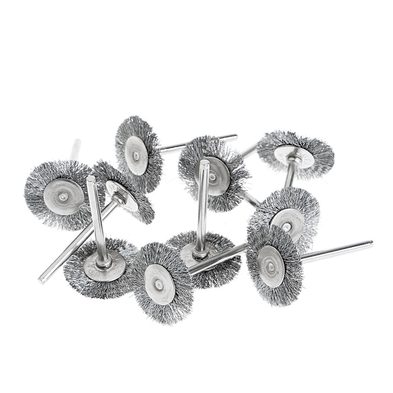 10Pcs Steel Wire Wheel Brushes Cup Rust Rotary Electric Tool Engraver Abrasive -Y103  цены