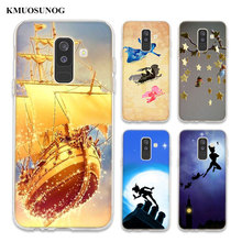 Transparent Soft Silicone Phone Case Peter Pan wendy Tinkerbell For Samsung Galaxy A6 A6+ A9 A8 Star A8+ A7 A5 A3 Plus 2018 2016