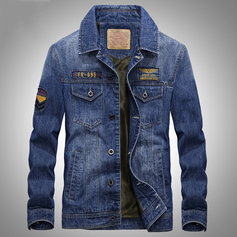2018 New Spring Autumn AFS JEEP denim jacket men high quality European style retro mens jeans jacket jaqueta jeans masculina