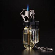 Ship From USA Outdoor Cigarette Torch Lighters Keychain Lighter Stylish Potable Travel Smoking Accessories Key Ring Tools(China)