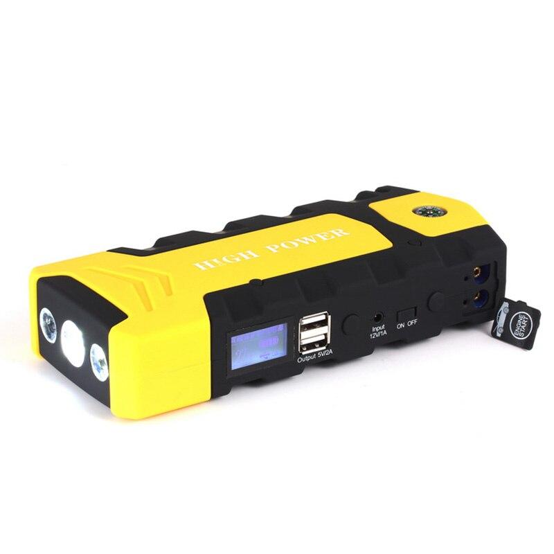 LED Portable Auto démarreur batterie externe Mini dispositif de démarrage voiture saut démarreur 2018 nouveau 12 V chargeur de voiture pour voiture batterie Booster