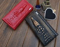 Genuine Leather Wallet Crocodile Designer Long Real Natural Leather Purse Clutch Bag