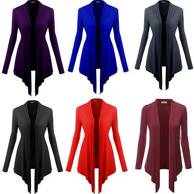Fashion Women Girls Ladies Loose Casual Irregular Cardigan Long Coat Outwear