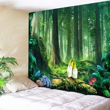 Green Forest Tapestry Psychedelic Bird Print Large Tapestry Hippie Tapestries Boho Decor Wall Hanging Trees Art Wall Carpets wall hanging art decor corroded wall print tapestry