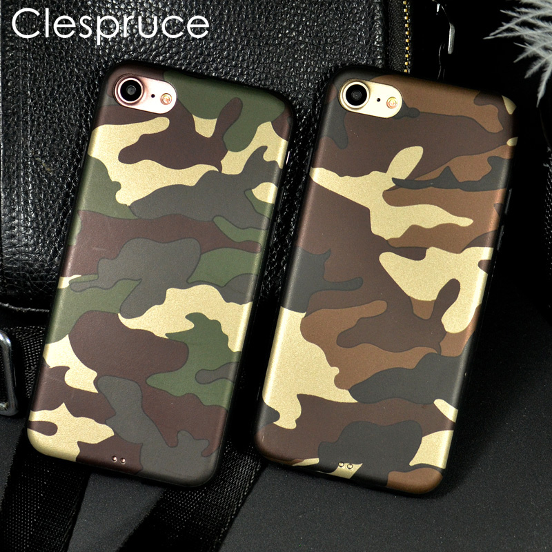 Army Camo Camouflage Phone Cases For iPhone X 7 6S 8 Plus 10 ArmyGreen Silicone Soft TPU Cover Case for Samsung S8 S9 Plus