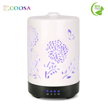 Ceramic Aromatherapy Essential Oil Diffuser Cool Mist Humidifier 4 Time Setting for Home Office Bedroom Living Room Yoga Spa