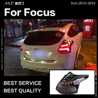 Car Styling for Ford Focus Tail Lights 2012 2014 Focus 3 Hatchback LED Tail Lamp LED DRL Signal Brake Reverse auto Accessories