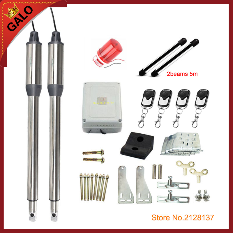 Butterfly door use 110/220V Electric gates / Electric Swing Gate Opener 300KG Swing Gate Motor with infrared fence the ivory white european super suction wall mounted gate unique smoke door
