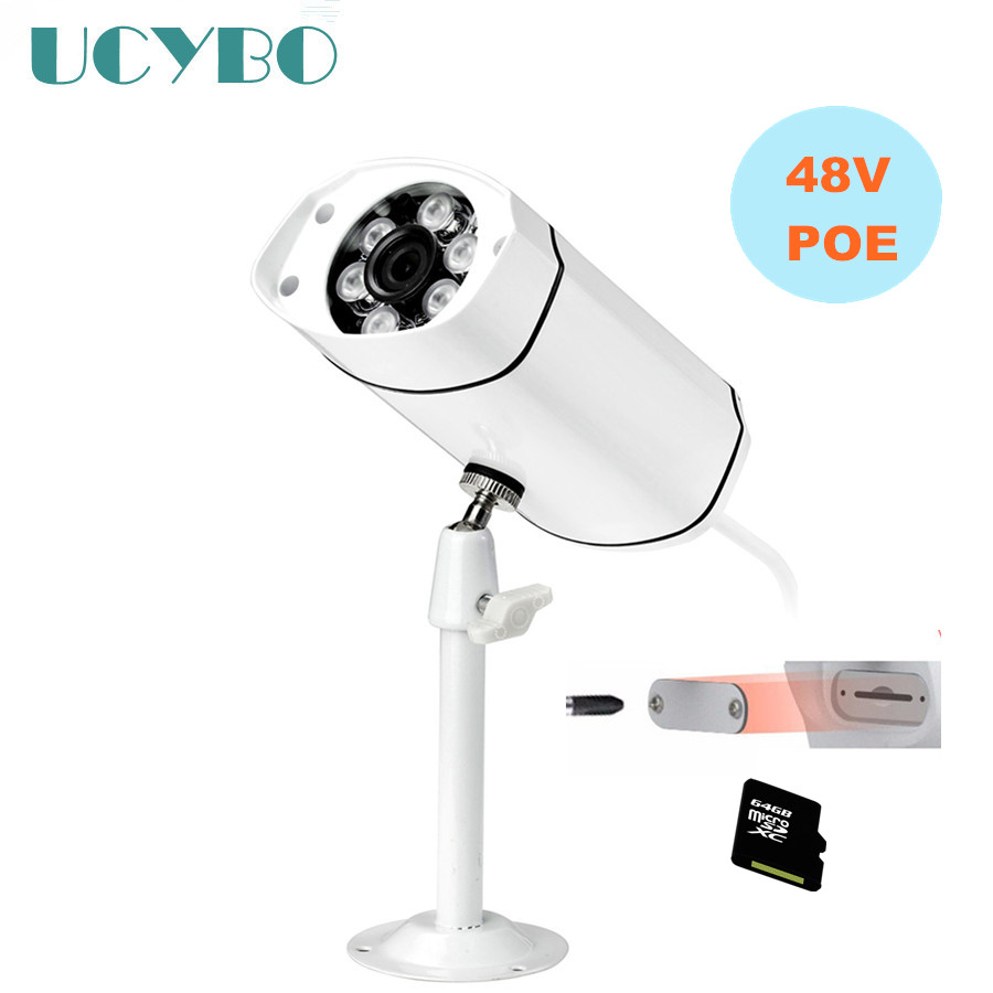 1080P HD IP Camera POE cctv surveillance 2MP Outdoor Bullet IR Night Vision Home Security Camera TF SD card motion detection seven promise 720p bullet ip camera wifi 1 0mp motion detection outdoor waterproof mini white cctv surveillance security cctv