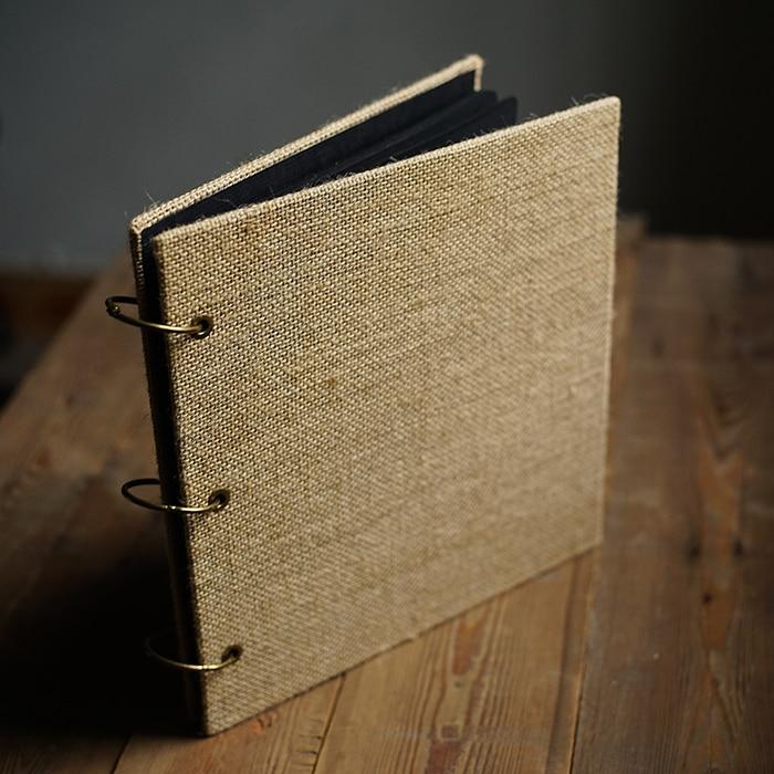 Diy Wooden Book Cover ~ Aliexpress buy square burlap creative handmade diy