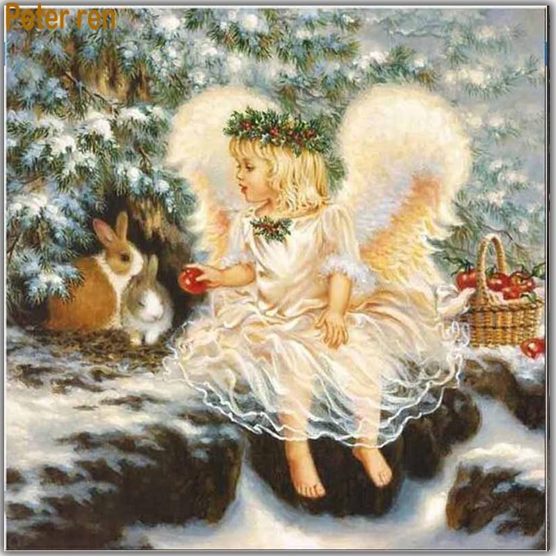 Diy Diamond embroidery full sale painting Angel Square mosaic rabbit Painting rhinestones artesanato