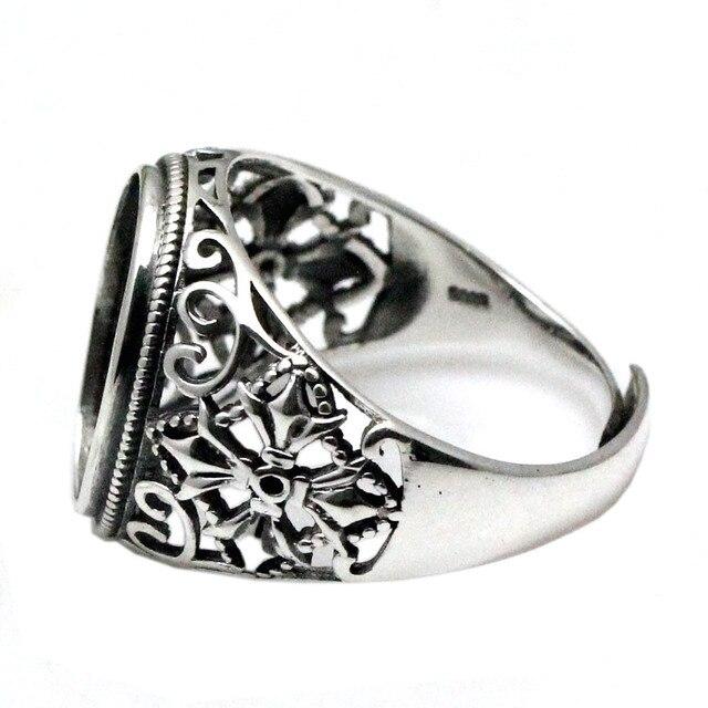 Beadsnice 925 Sterling Silver Ovale cabochon Impostazione Anello Anello A Filigrana per 13x18mm Risultati Dei Monili Fatti A Mano di Pietra ID 34214