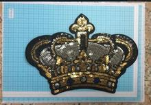 DZ  1pc Flash Sticker Crown 17.8*22.5 cm Cute Decorative Garment Sewing Material