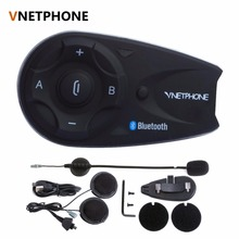 Vnetphone V5 1200M BT Bluetooth Motorcycle Helmet Interphone For 5 Riders Talk at same time Intercom with Headset