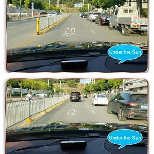 Image 5 - GEYIREN hud obd head up display OBD2 + GPS Dual System M7 head up display gps Überdrehzahl auto kopf display up obd2 hud display auto