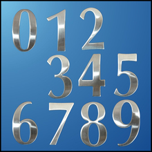 0-9 Modern House Numbers Stainless Steel Number Digits Sticker Plate Sign Size 6.2*3.5*1.9cm Door Letters Room Gate Number New 3d laser cut stainless steel sign and house number