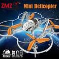 Lo nuevo aviao 4 canales quadrocopter mini indoor co-axial metal rc Construido en el Giroscopio helicóptero YD 901 4CH Mini Drone No cámara
