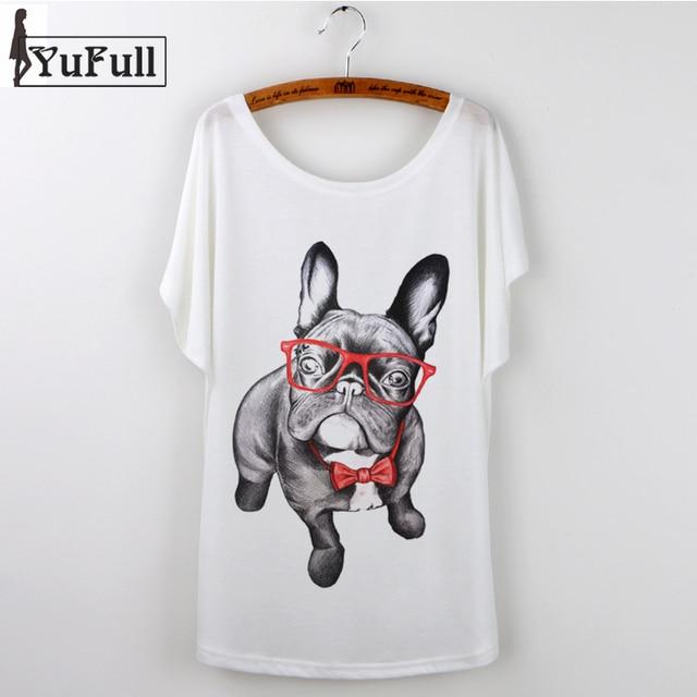 71364ca241 2018 Harajuku White T-shirt Women Ladies Tops summer Cute French Bulldog  Pug Animal Print Casual Funny T Shirt Tee Shirt Femme
