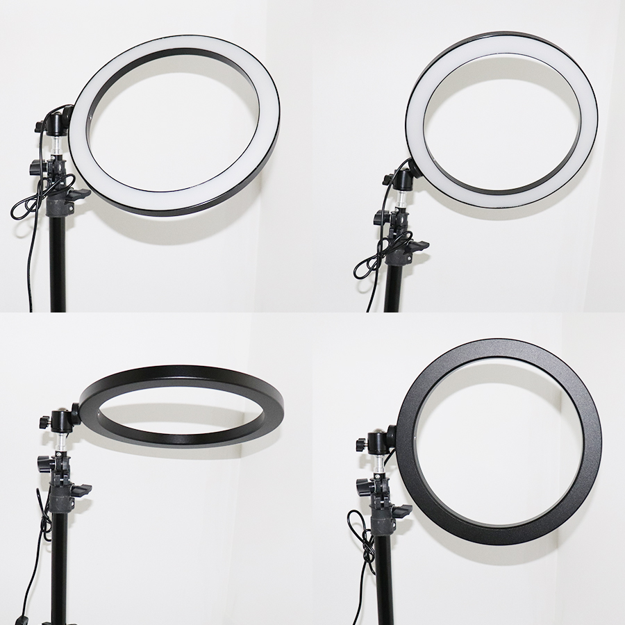 Ring Light Kit 10 quot 26cm Dimmable LED Ring Light YouTube Self Portrait Shooting Makeup Video photography ring light amp tripod in Photographic Lighting from Consumer Electronics