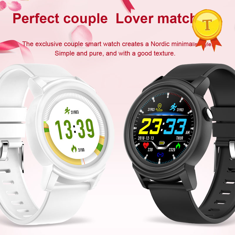 Newest Perfect couple lover match Color Screen Smart Watch Men Multi sport mode Health Fitness Tracker