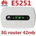 Разблокирована Huawei E5251 42.2 Мбит 3 Г HSPA UMTS 900/2100 Мгц USB Беспроводной Маршрутизатор для Pocket WiFi Мобильного Широкополосного E5220 PK E5331 E5332