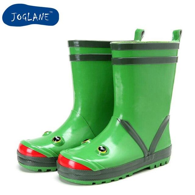 kids cartoon rain boots 2018 autumn children frog design boy and