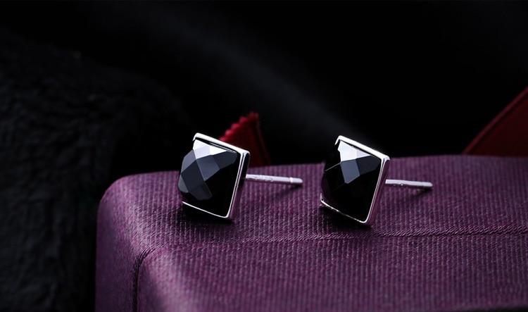 418a6b766 60% off Brincos Ouro Free Shipping Bijoux Women Men Black Jade Silver Stud  Earrings Earings Fashion Jewelry Pendientes js1012-in Stud Earrings from  Jewelry ...