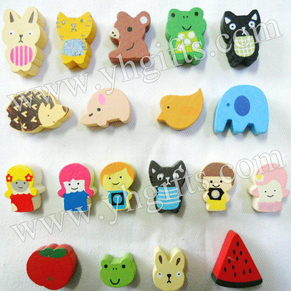 190PCS/LOT.Wood cartoon stickers,Kids toys.Early educational DIY.Kindergarten crafts.Gifts.Wholesale