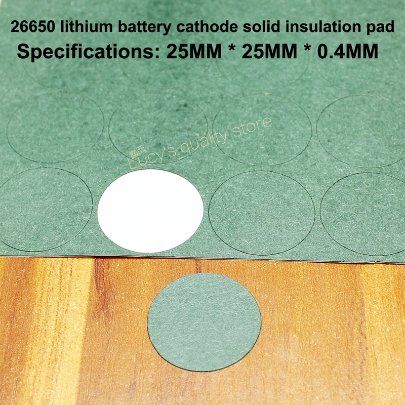 Купить с кэшбэком 100pcs/lot 26650 Lithium Battery Anode Hollow Flat Insulating Gasket Surface Mat Meson Single Cell Battery Accessories