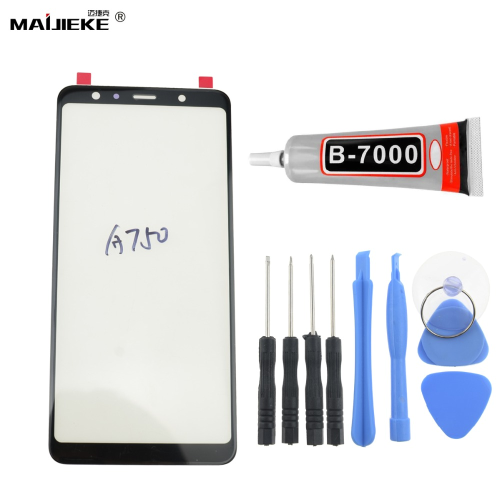 Ori Front Touch Glass Touch Panel Replacement for Samsung Galaxy A7 2018 A750 Outer Touch Screen Repair Tools+9ml <font><b>B9000</b></font> <font><b>Glue</b></font> image