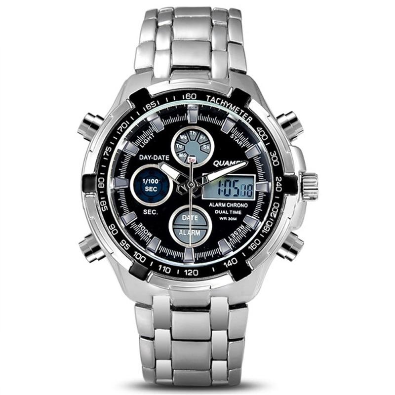 2018 Mode Klockor Män Lyx Märke Guld Guld Klockor Män Sport Quartz Watch Armbandsur Relogio Masculino