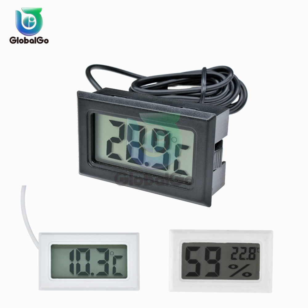 Mini LCD Digital Suhu Kelembaban Meter Indoor Outdoor Thermometer Hygrometer Suhu Sensor Gauge Tampilan Home Freezer