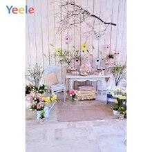 Yeele Do Quarto Do Bebê Show de Festa Bouquet Flores Interior Backdrops Para Estúdio de Fotografia Fotografia Fundos Fotográficos Personalizados