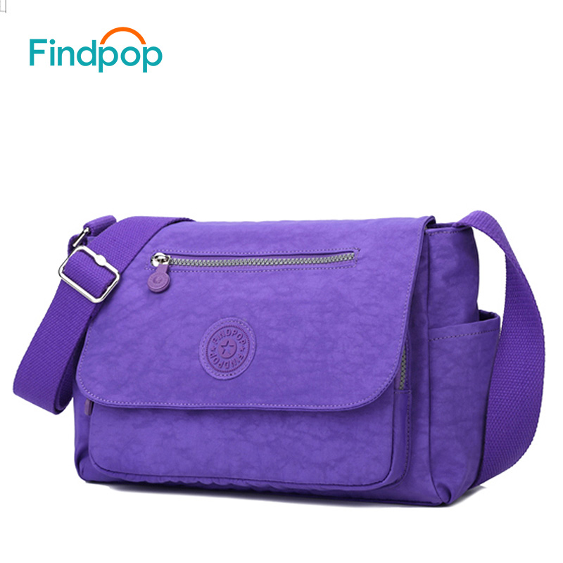Findpop Fashion Shoulder Bags Large Capacity Canvas Crossbody Bags For Women 2018 Waterproof Small Women Shoulder Bags 5 Color