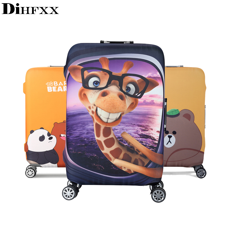 Travel Thicken Elastic Luggage Cover Cartoon Suitcase Protective Cover Apply to 18-32'' Cases Travel Accessories DX-01