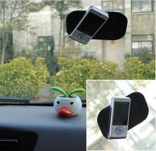 8X13cm Pure Black PU Removable Car Interior Accessories Anti-slip Mat Pad Sticker Non-slip Mat For iphone Smartphone Window