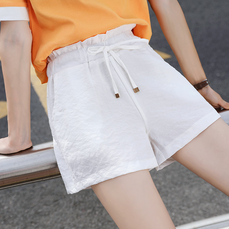 Women Shorts New High-Waisted Fairy Loose Leisure Shorts For Summer 2019 Solid  Elastic Waist Three Colors Size S-4xl Hjh