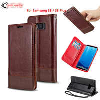 For Samsung S8 Case Luxury Leather Magnetic Flip Wallet Case Cover For Samsung Galaxy S8 S 8 Plus Phone with Card Cover Coque
