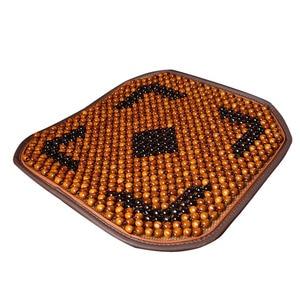 Image 1 - Tampas de Assento Assento de Carro Do Grânulo de Madeira Natural de Bordo de automóveis Esteira Do Assento Para Carro Escritório Almofada de Massagem Legal Respirável Ambiental