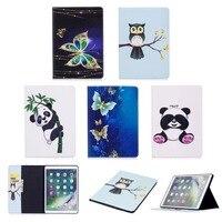 Panda Owl Flower Tree Pattern PU Leather Wallet Flip Case For Apple IPad Pro 10 5